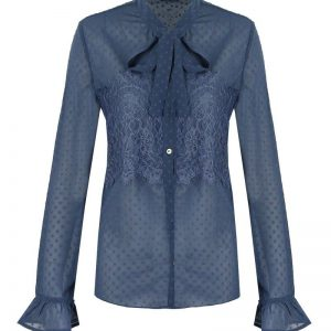 Blouse lace blue